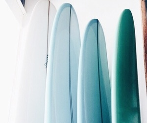 surfboard, blue, and summer image