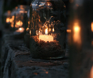 candle, light, and night image