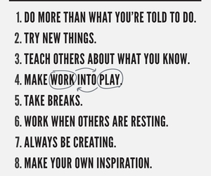 rules, inspiration, and quote image