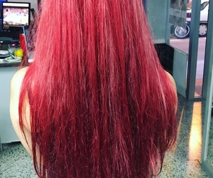 hair, redhair, and longhair image
