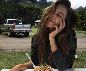 girl, alexis ren, and food image