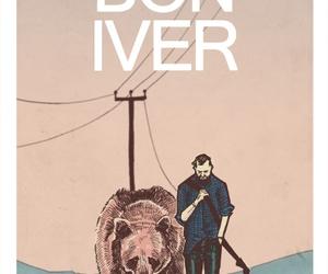 bon iver, music, and illustration image