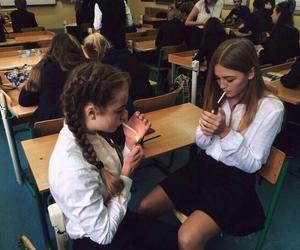 girl, school, and grunge image
