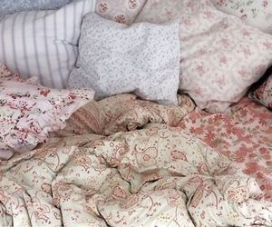 bed sheets, girly, and pink image