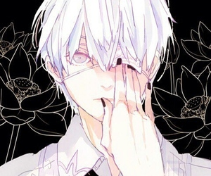anime, flowers, and ghoul image