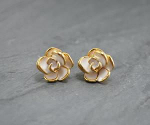etsy, christmas gift, and flower studs image