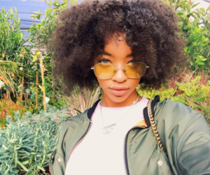 Afro, black girl, and curly image