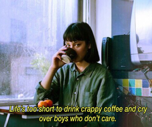 quotes, coffee, and boy image