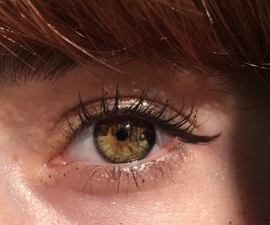eyes, green, and eyeliner image