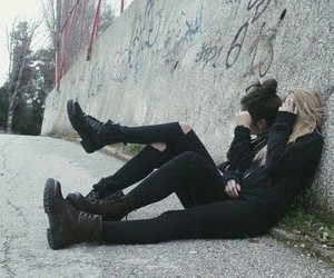 black, grunge, and friends image