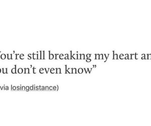 broken heart and quote image