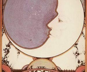 moon, card, and tarot image