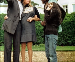 john lennon, Paul McCartney, and Yoko Ono image