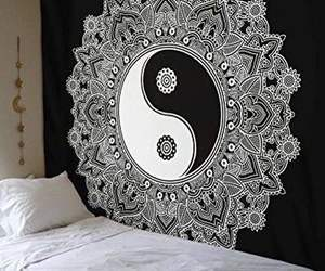 art, bed, and decor image