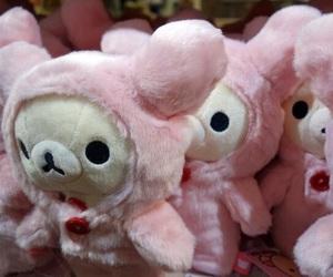 pink, rilakkuma, and cute image