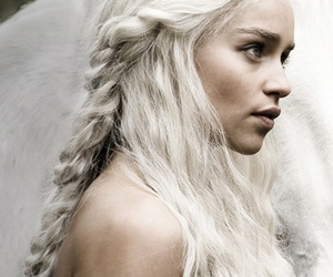 game of thrones, horse, and daenerys targaryen image