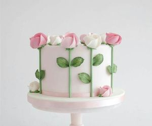 cake, flower, and rose image