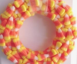 candy corn, decor, and Halloween image