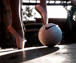 ballet, girl, and soccer image