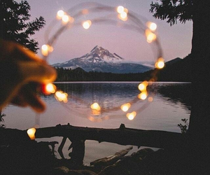 light, mountains, and fire image