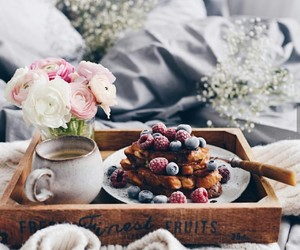 autumn, bed, and berries image