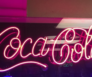 aesthetic, coca cola, and neon image