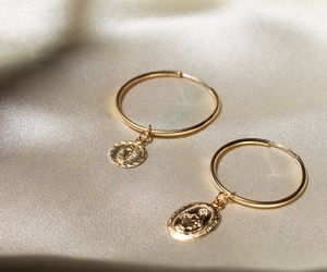 gold, earrings, and fashion image