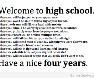 quote, high school, and school image