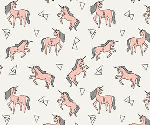 unicorn, background, and pink image