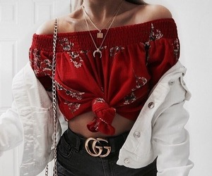 fashion, gucci, and red image