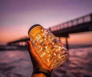light, bridge, and sky image