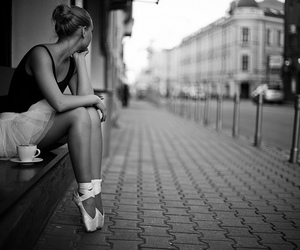 ballet dancer, beautiful, and cup of tea image