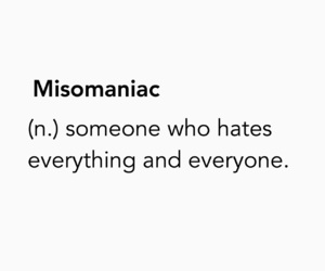 hate, misomania, and misomaniac image