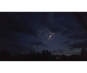 clouds, midnight, and moon image