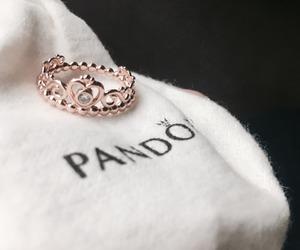 pandora, ring, and rose gold image