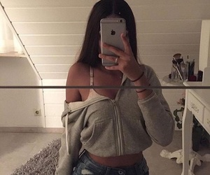 girl, iphone, and outfit image