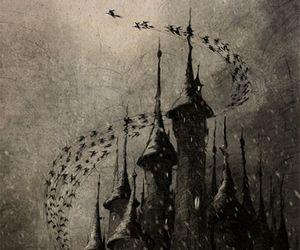 bats, castle, and dark image