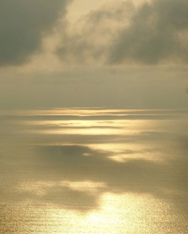 gold, ocean, and sea image
