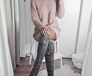 boots, fashion, and grey image