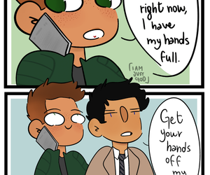 comic, dean winchester, and domestic image