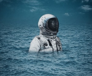 420, astronaut, and water image