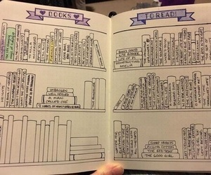 book, ideas, and bullet journal image