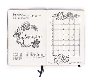 ideas, planner, and bullet journal image