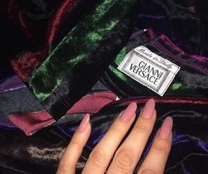 dress, nail art, and nail goals image