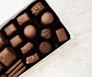 brown, candy, and chocolate image