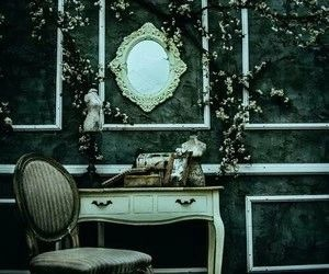 dark, mirror, and green image