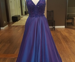Prom, promdress, and bluedress image