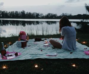girl, lake, and photograpy image