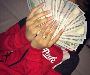 money, nails, and red image