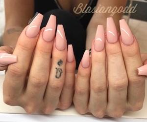acrylic, mocha, and nail image